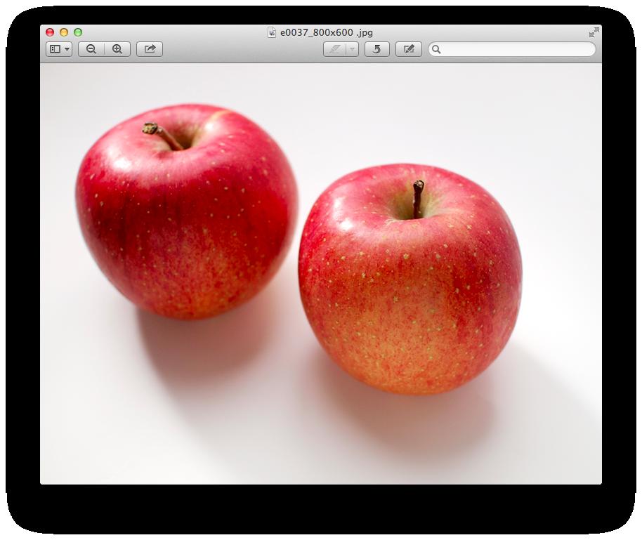 プレビュー カラーを調整 りんごの画像