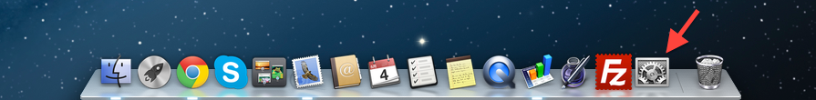 Dock システム環境設定の画像